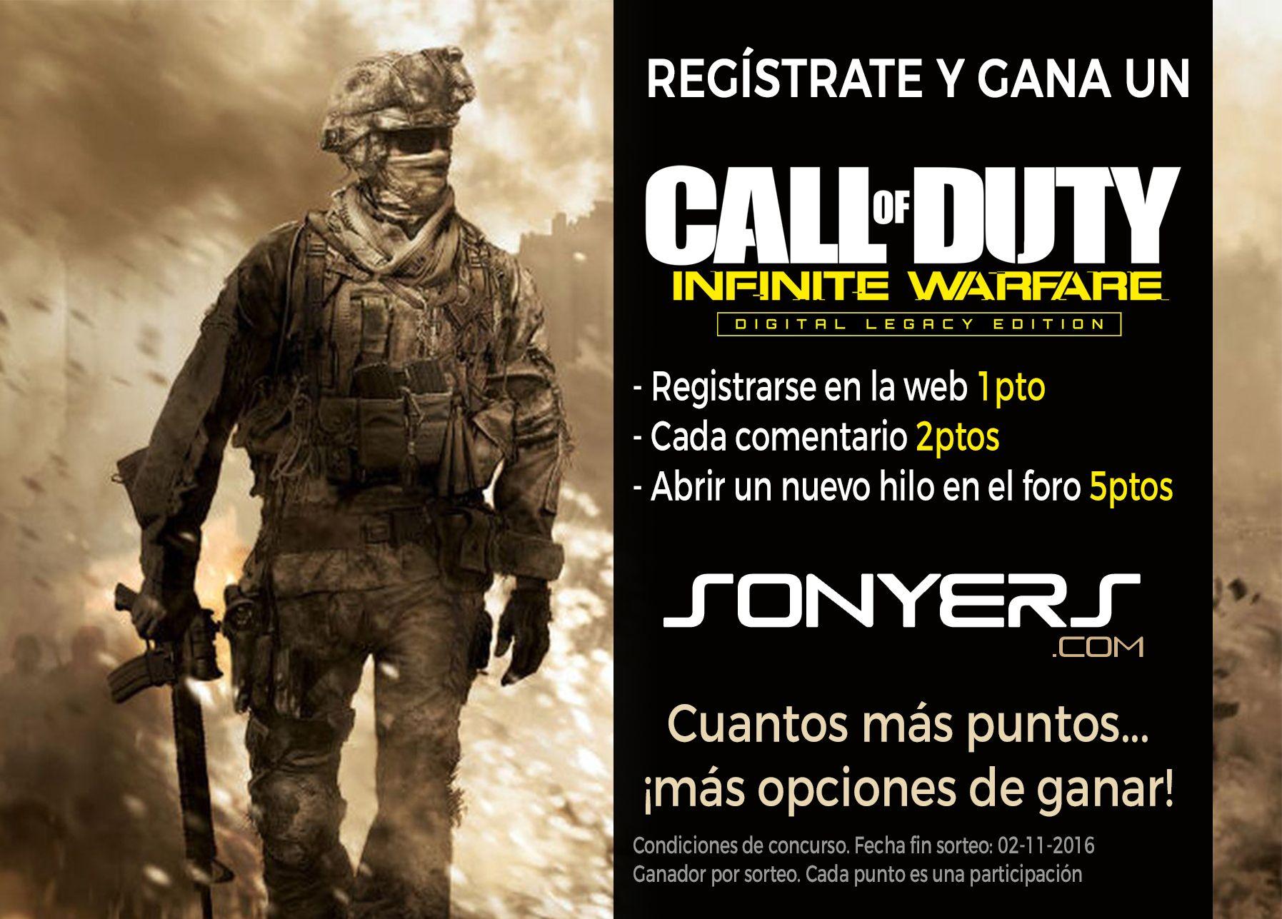 Concurso COD Infinity Warfare Legacy Edition