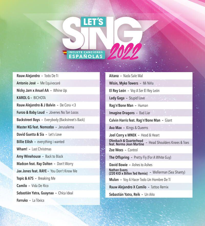 Let's Sing 2022 llegará con éxitos nacionales e internacionales